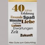 Billette Geburtstag 40Jahre