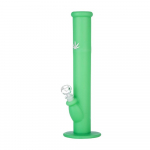 Bong Silikon 35cm  HAnfblatt grün