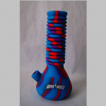 Bong Silikon blau/lila/rot 25cm Ausziehbar auf 42cm
