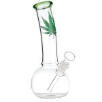Bong Glas grau 38cm