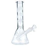 Bong Glas schwarz/gold 35cm