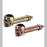 Pfeife metall Totenkopf 8,5cm