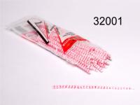 Pfeifenputzer 80er rot/weiß Blitz