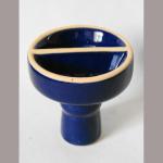 Wasserpfeifenkopf Keramik Duo blau