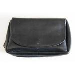 Drehertasche Leder schwarz 13,5x9cm