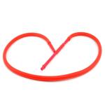 Schlauch f. WP Silikon rot 180cm