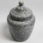 Tabaktopf Keramik granit blau H.11,5cm