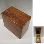Tabakdose Holz mini braun 5x8,5cm