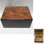 Humidor f.50 Zigarren Wurzeldekor 29x23cm