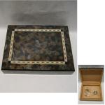 Tabakdose Holz braun  groß 4x7,5cm