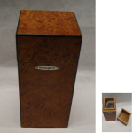 Humidor Silver Match  m.Befeuchter 12c 10x21,5cm