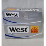 Zig. Hülsen West silber KS langer Filter 250er