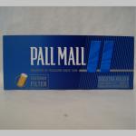 Zig. Hülsen Pall Mall blau KS langer Filter 200er