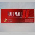 Zig. Hülsen Pall Mall rot KS langer Filter 200er