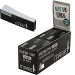 Filtertips Marie KS schwarz slim 6x2cm