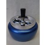 Drehascher 11cm bauchig blau