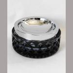 Kippascher 11cm Glas schwarz