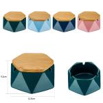 Ascher Keramik 12cm schwarz/gold