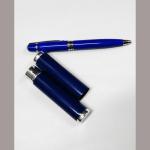 Kugelschreiber blau Metall