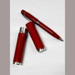 Kugelschreiber rot Metall