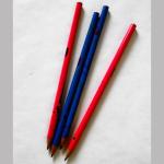 Bleistift mit Flecken