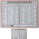 Wandkalender A4 ka711
