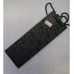 Offsettragtasche Flasche Luxus schwarz 13x36cm