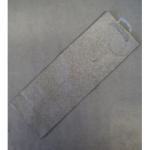 Offsettragtasche Flasche Luxus silber 13x36cm