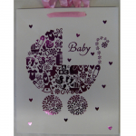 Offsettragtasche A4 Baby rosa 26x32cm