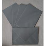 Kuvert B6 silber 175x120mm 25er