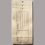 Warenprobesackerl weiß 50 125x290mm
