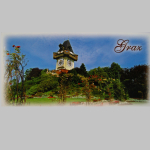Karten Graz Panorama 10x21cm