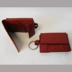 Geldbörse Mini rot mit Schlüsselring