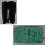 Geldbörse Damen Reptilie blau/schwarz 19cm