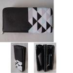 Geldbörse Damen schwarz Karo 19cm