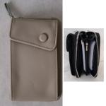 Geldbörse Damen grau/glitzer 19cm