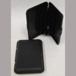 Visitenkartenetui Plastik schwarz 6Fächer