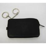 Schlüsseltasche schwarz Leder
