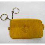 Schlüsseltasche gelb Leder