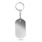 Schlüsselanhänger Aluminium silber