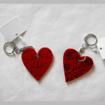 Schlüsselanhänger Filz-Herz 6cm