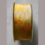 Stoffband Blumen gelb 40mmx25m