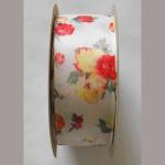 Stoffband Blumen 40mmx25m