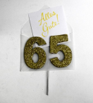 Jubiläumszahlen 65er Glimmer 8x10cm
