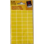 Sticker Makierung gelb eckig