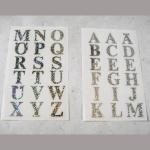 Sticker Buchstaben silber