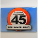 Magnet 45Jahre 8x5cm