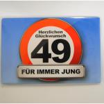Magnet 49Jahre 8x5cm