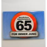 Magnet 65Jahre 8x5cm