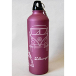 Trinkflasche VW rosa Bully
